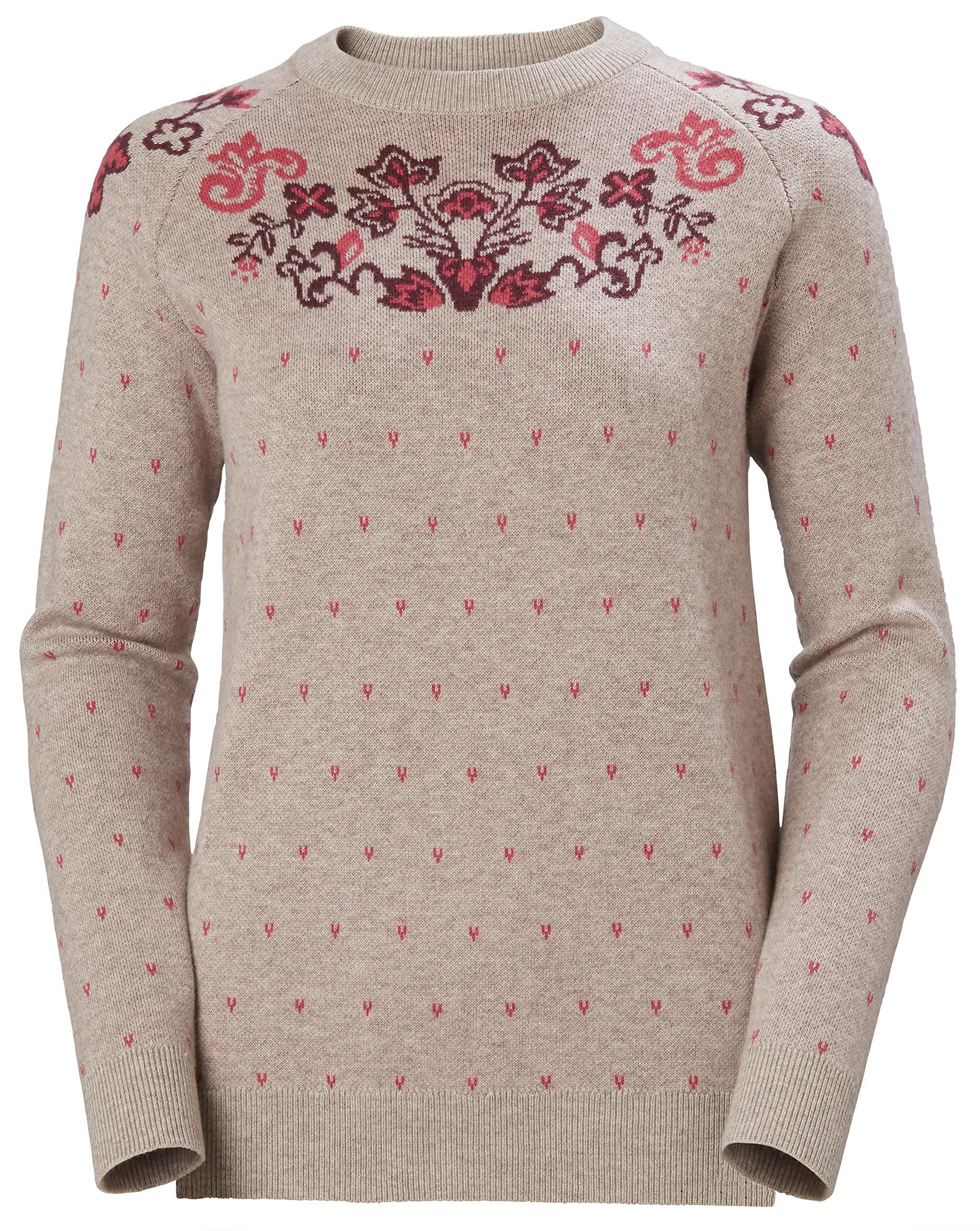 Helly Hansen Damen Wool Knit Sweatshirt, Pelican, S