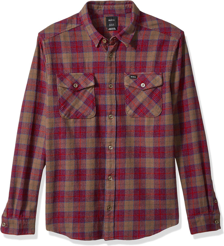 RVCA Men's Thatll Work Long Sleeve Woven Flannel