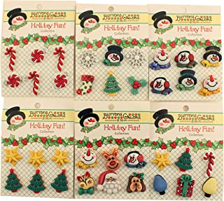 Buttons Galore Christmas 3D Buttons-Set of 6 Cards