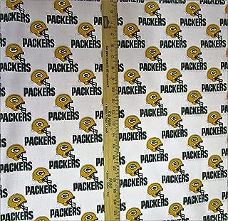 Zen Creative Designs 100% Cotton NFL Sports Team Green Bay Packers White Multi-Print Window Valance Panel/Kids Nursery Window Treatment Decor (24