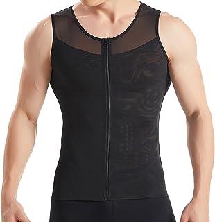 HANERDUN شانه بدن مردان لاغر با پیراهن فشرده سازی فشرده سازی پیراهن زیپ