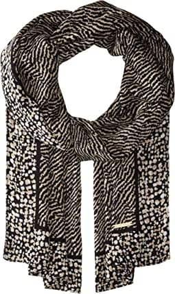 Reptile Print Oblong Scarf
