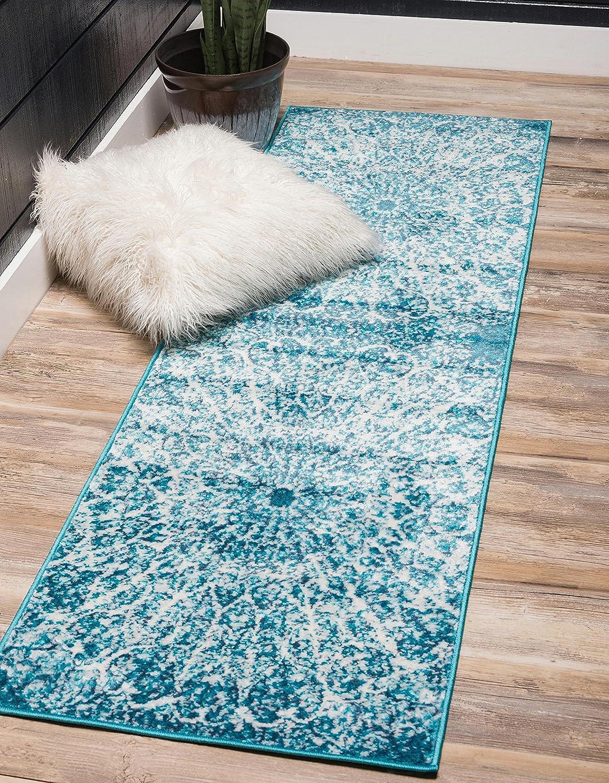 Unique Loom 3141452 Area Rug, 2' x 10', Turquoise