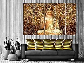 Kyara arts Big Size Multiple Frames, Beautiful buddha Wall Art Painting for Living Room, Bedroom, Office, Hotels, Drawing ...