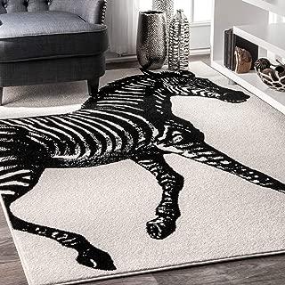nuLOOM Thomas Paul Zebra Area Rug, 5' x 8', Black & White