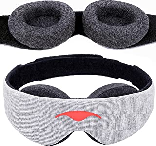 Manta Sleep Mask - 100% Blackout Eye Mask - Zero Eye Pressure - Adjustable Eye Cups - Guaranteed Deepest-Possible Rest - P...