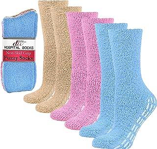 6 جفت جوراب بیمارستانی بدون لغزش جوراب دمپایی فانتزی برای مردان مردانه Debra Weitzner