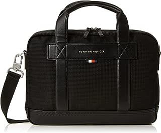 Tommy Hilfiger Unisex Tailored Nylon Computer Bag, Black, One Size