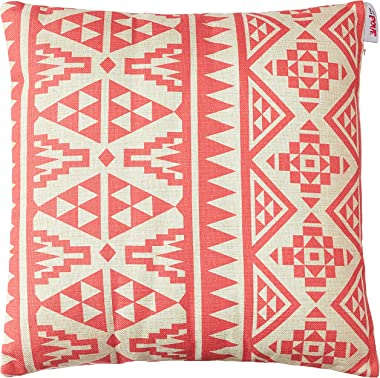 """Christopher Knight Home 305800 Linda Outdoor Water Resistant 18"""" Square Pillow, Pink Print"""