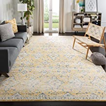 Safavieh Evoke Collection EVK224B Contemporary Bohemian Gold and Ivory Area Rug (5'1