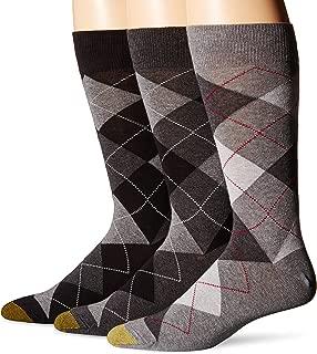 Gold Toe Men's 3-Pack Carlyle Argyle Crew Sock