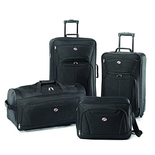 eec1d90bc American Tourister Luggage Fieldbrook II 4 Piece Set, Black, One Size