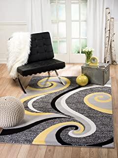 Best gray yellow and white rug Reviews