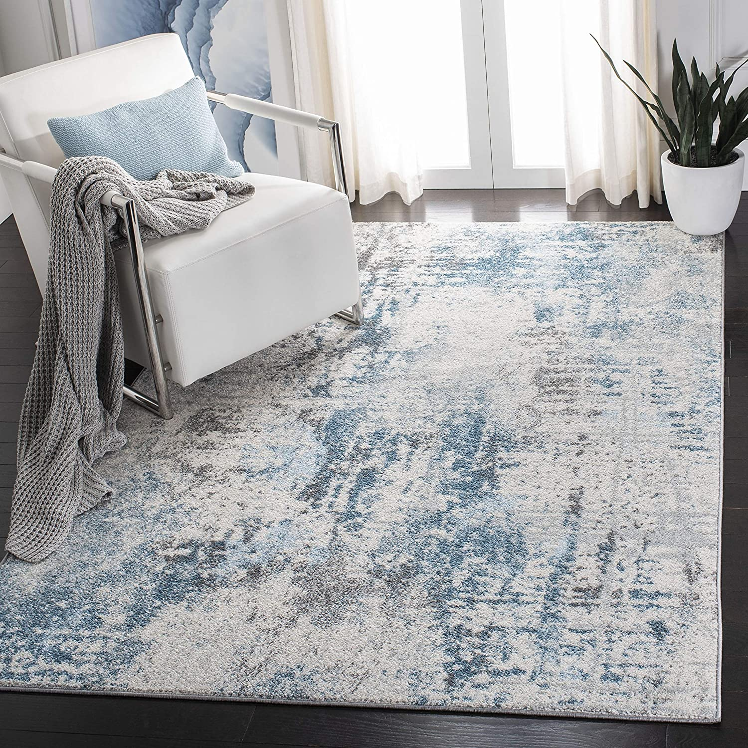 Safavieh Tulum Collection TUL232A Modern Max 61% OFF Abstract Now free shipping L Non-Shedding