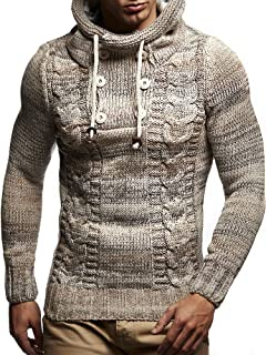 Leif Nelson LN20227 Men's Knitted Pullover