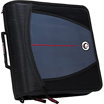 Case-it Mighty Zip Tab 3-Inch Zipper Binder, Black, D-146-BLK