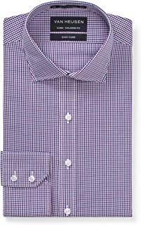 Van Heusen Men's Euro Tailored Fit Shirt Navy and