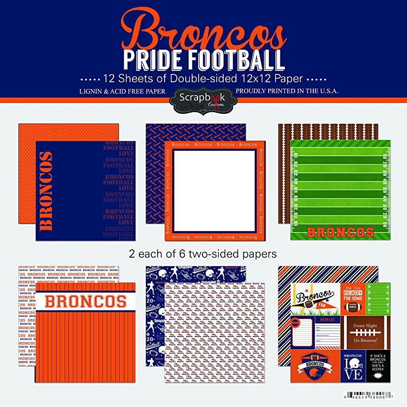 Scrapbook Customs Broncos Pride Football Scrapbook Kit
