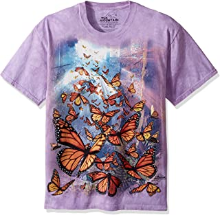 The Mountain Mens 104863 Monarch Butterflies T-Shirt Short Sleeve T-Shirt