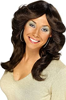 Smiffy's Women's 70's Flick Wig Long Wavy and Layered