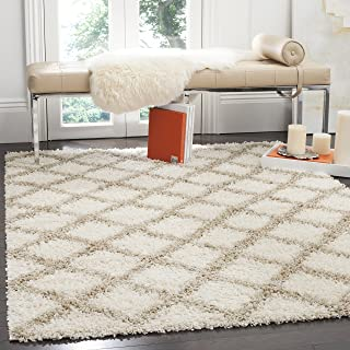 Safavieh Dallas Shag Collection SGD258B Ivory and Beige Area Rug (8' x 10')