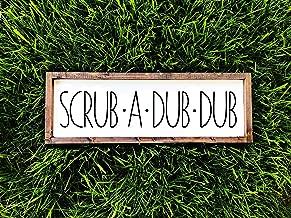 CELYCASY Scrub a Dub Señal de Madera para decoración de baño, Regalos para decoración de hogar de Campo de Estilo Granja | señal de baño