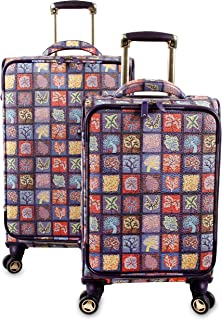 J World New York Bella Collaboration 2-Piece Luggage Set, Seasons, One Size