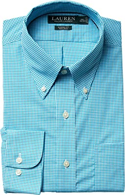 LAUREN Ralph Lauren - Classic Fit Non Iron Gingham Plaid Button Down Dress Shirt
