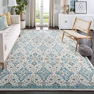 Safavieh Evoke Collection EVK224C Contemporary Ivory and Light Blue Area Rug (6'7