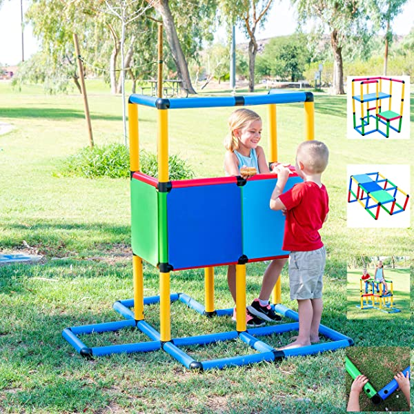Funphix Standard 199 Piece Construction Fun Set Building Play Structures For Indoors Outdoors