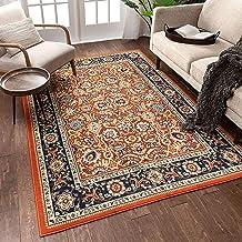 Amazon Com Orange Oriental Wool Rugs
