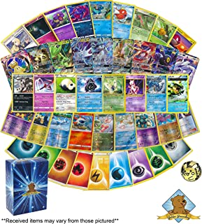 100 Pokemon Card Lot Featuring - 1 Coin - 1 GX - A Mix of Random Rares - Foils and More! Elite Trainer Box Tin or Treasure Chest Box! Bonus 45 Energy Cards! Includes Golden Groundhog Deck Box!