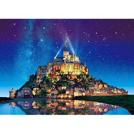 500ピース エポック(EPOCH) ジグソーパズル めざせ パズルの達人 世界の絶景 星空のモン・サン・ミシェル-フランス(38x53cm)