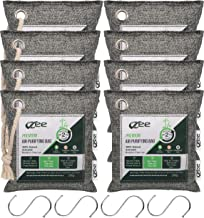 VZee Bamboo Charcoal Air Purifying Bags 8 Pack X 200g Each, With S-Hooks and Ropes, Bigger Chunks Of 10x More Odor Abortion Charcoal, Charcoal Bags Odor Absorber, Charcoal Air Purifying Bag, Bamboo Charcoal Odor Eliminator Bag, Air Purifier Bag Bamboo, Charcoal Odor Removal Bags, Charcoal Odor Eliminator Bags for Home, Activated Charcoal Odor Absorber Large Room, Odor Eliminators Charcoal, Charcoal Bags for Home, Bamboo Activated Charcoal Odor Absorber Bag, Bamboo Charcoal Bags, Odor Eliminator