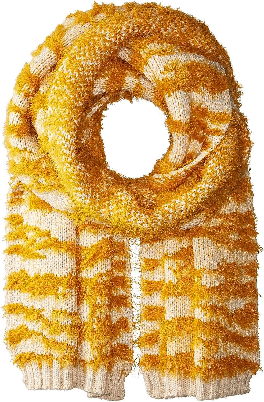 BCBGMAXAZRIA womens Textured Animal Knit Muffler Winter Scarve
