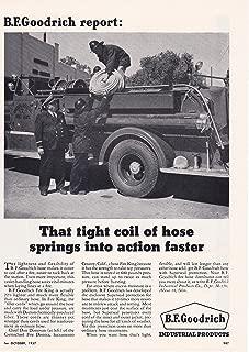 1957 Original Magazine Print Ad BF Goodrich Fire Hose