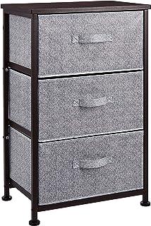 AmazonBasics Unidad de almacenamiento de tela con 3 cajones para armario color bronce