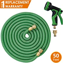 ANSIO Garden Hose Pipe Expandable Water Hose 50 Ft/15M with Brass Connectors, 9 Function Spray, Flexible Anti-Kink for Home, Garden, Patio and Car cleaning - 1 Year Replacement Warranty