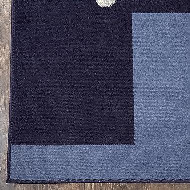 """Home Dynamix Ariana Galil Area Rug 3 Piece Set (4'11"""" x6'11,1'8 x4'11,1'8 x2'8), Geometric Blue"""