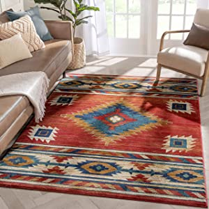 Well Woven Lizette Red Traditional Medallion Area Rug 4x6 (3'11