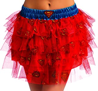 Secret Wishes DC Comics Justice League Superhero Style Adult Skirt with Sequins Supergirl, Blue, One Size