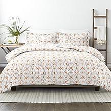 طقم ملاءات سرير من 3 قطع من Simply Soft Premium Aztec Dreams، King/California King، مرجاني اللون