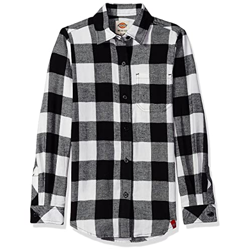 1a07f0d4b90ba2 Dickies Women's Big Girls' Long Sleeve Flannel Shirt