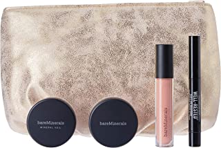 bareMinerals Let It Glow Set for Women with Blush Floret & Mineral Veil Finishing, 5 Count