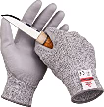 SAFEAT Safety Grip Work Gloves for Men and Women – Protective, Flexible, Cut Resistant, Comfortable PU Coated Palm. Free eBook Gift Included! Size Medium