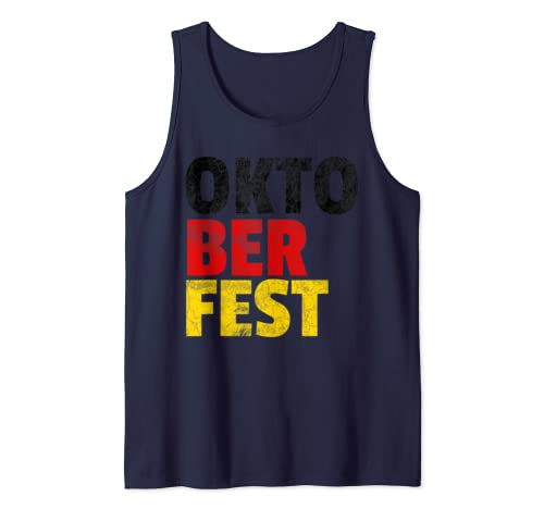 Oktoberfest Beer Drinking Party Cool German Funny Mens Women Tank Top