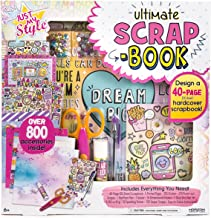 Just My Style Ultimate Scrapbook by Horizon Group USA, DIY Scrapbook Journal Kit, Included Scrapbook, Stickers, Pen, Scissors, Glue Stick, Gemstones & More
