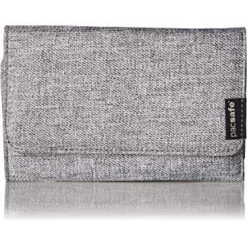 Pacsafe RFIDsafe LX100 Anti-Theft RFID Blocking Wallet, Tweed Grey