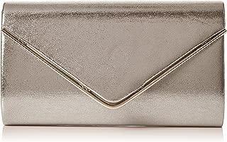 Womens Kim Metallic Envelope Bag Clutch