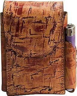 Portasigarette, porta pacchetto sigarette con porta accendino, Vera Pelle - Etabeta Artigiano Toscano - Made in Italy (fan...